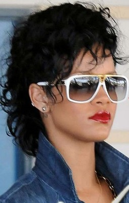 rihanna white glasses